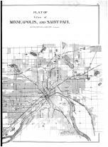Minneapolis and Saint Paul - Right, Hennepin and Ramsey Counties 1898